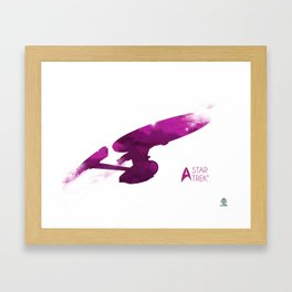Star Trek Minimalist Cloudy Poster Framed Art Print
