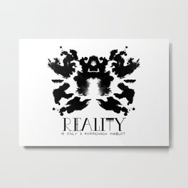 Reality is only a Rorshach Inkblot Metal Print