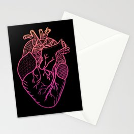 Designer Heart Colors Stationery Cards