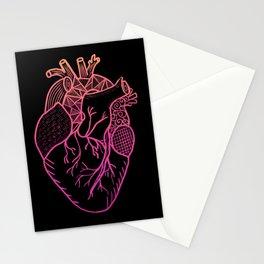 Designer Heart Colors Stationery Cards