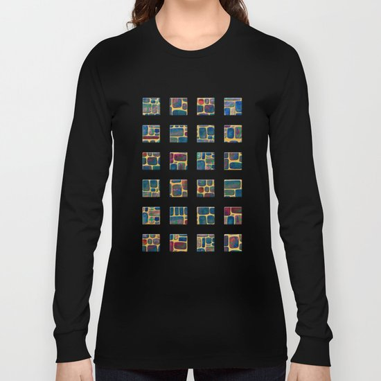 Abstract Tile Mosaic Long Sleeve T-shirt