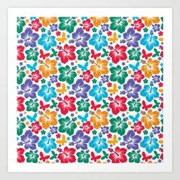 Hibiscus Pattern Art Print