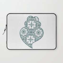 Traditionall portuguese Viana's heart and azulejo tiles background Laptop Sleeve