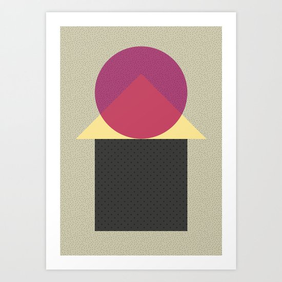 Cirkel is my friend V2 Art Print