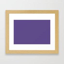PANTONE 18-3838 Ultra Violet Framed Art Print