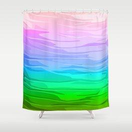 Rainbow Layers Shower Curtain