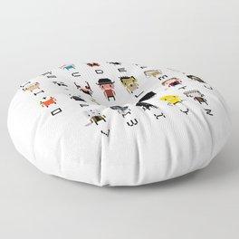Horror Movies Alphabet Floor Pillow