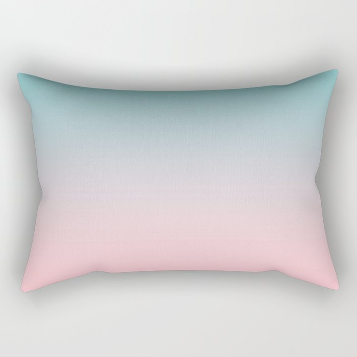 Simple modern minimalist pink turquoise ombre gradient Rectangular Pillow