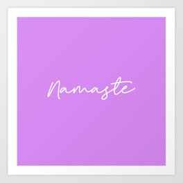 Namaste - Purple and white Art Print