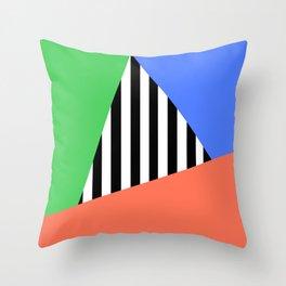 Vibe Stripe Sectors Throw Pillow