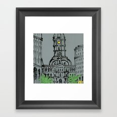 Little City Hall Sketch Framed Art Print