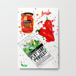 Food Study part 1. Metal Print