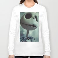 nightmare before christmas Long Sleeve T-shirts featuring Jack Skellington (Nightmare Before Christmas) by LT-Arts
