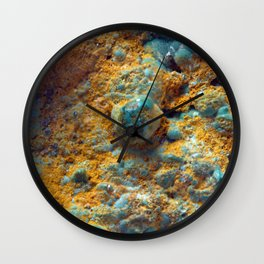 Bubbly Turquoise with Rusty Dust Wall Clock