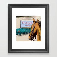Lonesome cowboy Framed Art Print