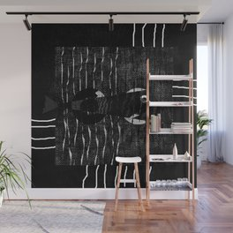 fish black and withe Wall Mural
