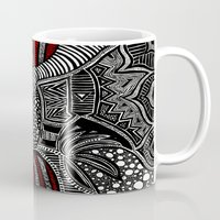 wave Mugs featuring Wave by Lauren Moore