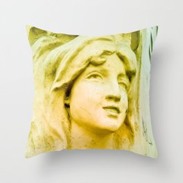 Hopeful and with great faith. Throw Pillow