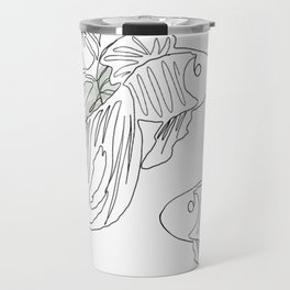 Botanical Line Drawing Travel Mug