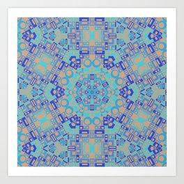 Space Lace Blues Art Print