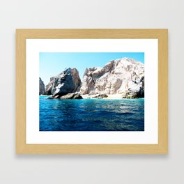 Lovers Beach Framed Art Print