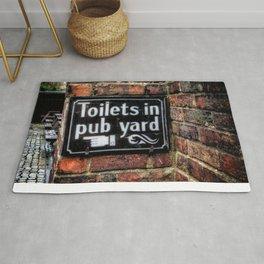 Victorian Pub Sign Rug