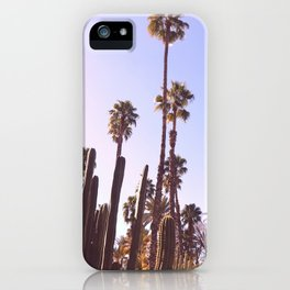 Palm trees, cactus and summer iPhone Case