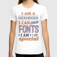 font T-shirts featuring Font Stacker by Designer Posters