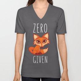 Zero Fox Given Unisex V-Neck