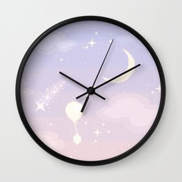 Crystal Skies Wall Clock