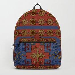 Folk ancient carpet of the Caucasus Backpack