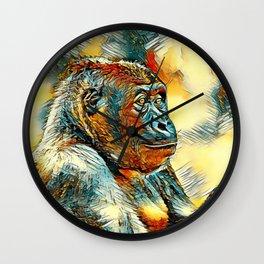 AnimalArt_Gorilla_20170604_by_JAMColorsSpecial Wall Clock