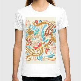 Abstract Florals T-shirt