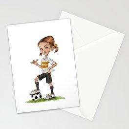 Soccer Girl Stationery Cards