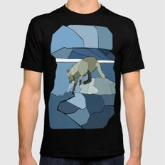 Artic Wolf Black MEDIUM Mens Fitted Tee
