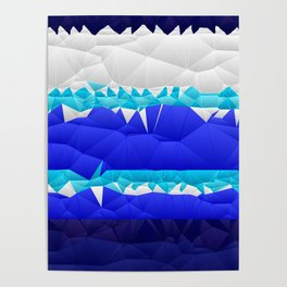 Nautical Inspired Quilted Pattern Design Poster
