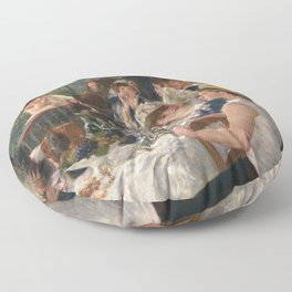 Auguste Renoir - Luncheon of the Boating Party (Le déjeuner des canotiers) Floor Pillow