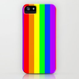 Rainbow Pride flag (vertical format) iPhone Case