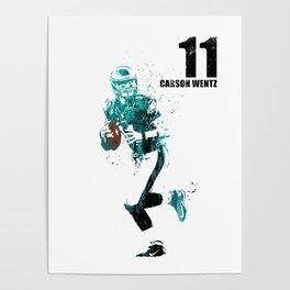 Carson Wentz #American football player Poster