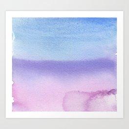 Bisexual Watercolor Wash Art Print