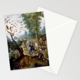 Noah's Family Assembling Animals before the Ark (ca. 1660) by Jan van Kessel Stationery Cards