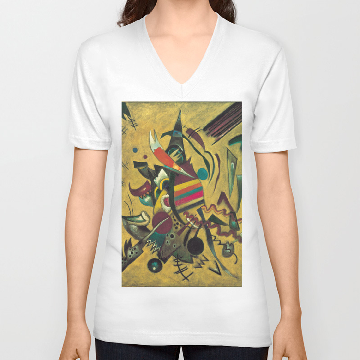 Wassily Kandinsky Points Unisex V Neck By Fineartpaintings Society6