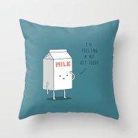 milk Throw Pillows featuring Milk by Jaco Haasbroek