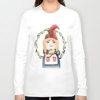 gnome Long Sleeve T-shirts featuring Female Gnome by Fercute