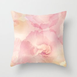 Abstract Hibiscus Flowers for Background, soft focus Throw Pillow