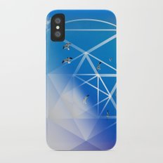 Gulls in Hexagram Flight iPhone X Slim Case