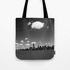 NYC Skyline B&W Tote Bag