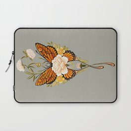 Butterfly Peonies Tattoo Laptop Sleeve