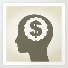 Business a head3 Art Print