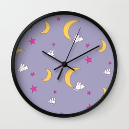 Usagi Tsukino Sheet Duvet - Sailor Moon Bunnies V2 Wall Clock